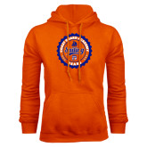 Orange Fleece Hoodie-Sailing Seal with Claw