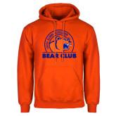 Orange Fleece Hoodie-Bear Club