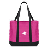 Tropical Pink/Dark Charcoal Day Tote-Primary Logo