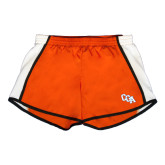 Ladies Orange/White Team Short-Secondary Logo