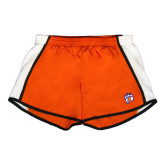 Ladies Orange/White Team Short-Tertiary Logo