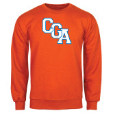 Orange Fleece Crew-Secondary Logo