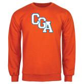 Orange Fleece Crew-Secondary Logo