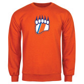 Orange Fleece Crew-Tertiary Logo