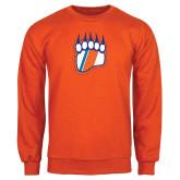 Orange Fleece Crew-Tertiary Logo