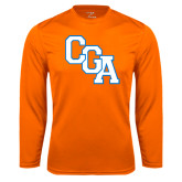 Syntrel Performance Orange Longsleeve Shirt-Secondary Logo
