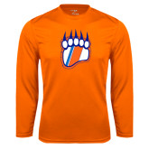 Performance Orange Longsleeve Shirt-Tertiary Logo