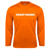 Syntrel Performance Orange Longsleeve Shirt-Coast Guard
