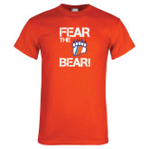 Orange T Shirt-Fear the Bear with Claw