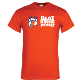Orange T Shirt-Beat Kings Point with Claw
