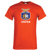 Orange T Shirt-Coast Guard Academy Seal