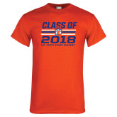 Orange T Shirt-Class Of - Stripes