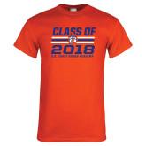 Orange T Shirt-Class Of - Stripes