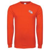Orange Long Sleeve T Shirt-Secondary Logo