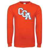 Orange Long Sleeve T Shirt-Secondary Logo