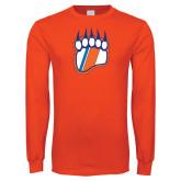 Orange Long Sleeve T Shirt-Tertiary Logo