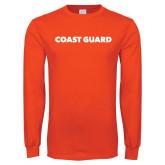 Orange Long Sleeve T Shirt-Coast Guard