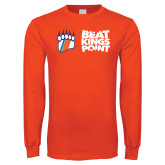 Orange Long Sleeve T Shirt-Beat Kings Point with Claw