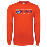 Orange Long Sleeve T Shirt-Coast Guard Academy