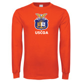 Orange Long Sleeve T Shirt-Coast Guard Academy Seal