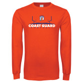 Orange Long Sleeve T Shirt-Football Field with Claw