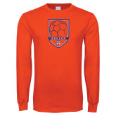 Orange Long Sleeve T Shirt-Soccer Shield