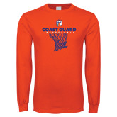 Orange Long Sleeve T Shirt-Basketball Net with Claw