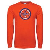 Orange Long Sleeve T Shirt-Sailing Seal with Claw