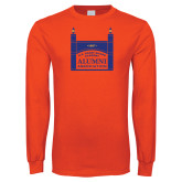 Orange Long Sleeve T Shirt-Coast Guard Academy Alumni Association