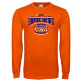 Orange Long Sleeve T Shirt-2017 Homecoming
