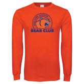 Orange Long Sleeve T Shirt-Bear Club
