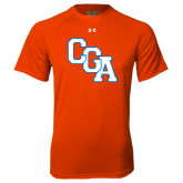 Under Armour Orange Tech Tee-Secondary Logo