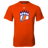 Under Armour Orange Tech Tee-Tertiary Logo