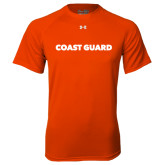 Under Armour Orange Tech Tee-Coast Guard