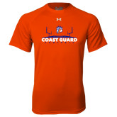 Under Armour Orange Tech Tee-Football Field with Claw
