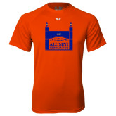 Under Armour Orange Tech Tee-Coast Guard Academy Alumni Association