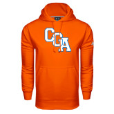 Under Armour Orange Performance Sweats Team Hoodie-Secondary Logo