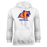 White Fleece Hoodie-Football