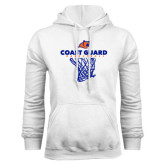 White Fleece Hoodie-Basketball Net