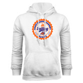 White Fleece Hoodie-Sailing Seal