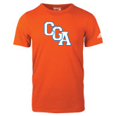 Adidas Orange Logo T Shirt-Secondary Logo
