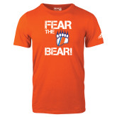 Adidas Orange Logo T Shirt-Fear the Bear with Claw