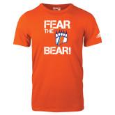 Adidas Orange Logo T Shirt-Fear the Bear with Claw