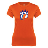 Ladies Syntrel Performance Orange Tee-Tertiary Logo