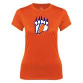 Ladies Syntrel Performance Orange Tee-Tertiary Logo