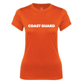 Ladies Syntrel Performance Orange Tee-Coast Guard