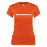 Ladies Syntrel Performance Orange Tee-Coast Guard