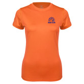 Ladies Syntrel Performance Orange Tee-Bear Club