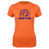 Ladies Syntrel Performance Orange Tee-Bear Club