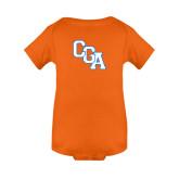 Orange Infant Onesie-Secondary Logo
